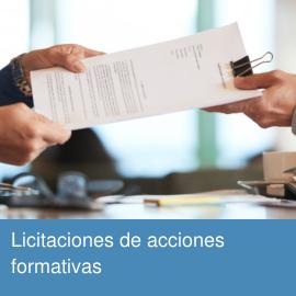 Licitaciones acciones formativas