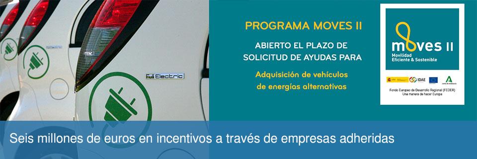 Programa MOVES II para la solicitud de ayudas para la adquisición de vehículos de energías alternativas