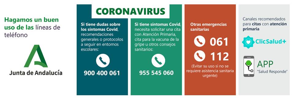 Coronavirus. Hagamos un buen uso de las líneas de teléfonos.