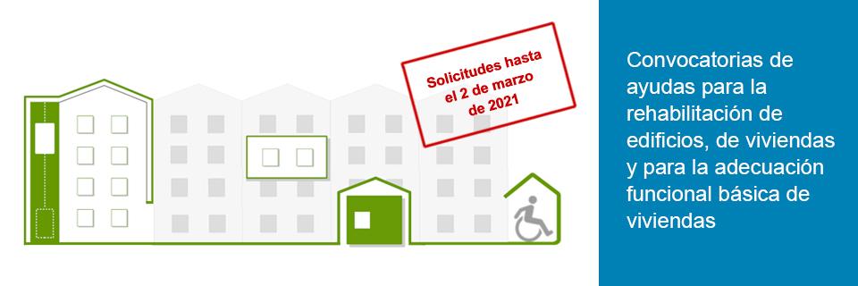 Ayudas de Rehabilitación. Edificios, vivienda y adecuación funcional