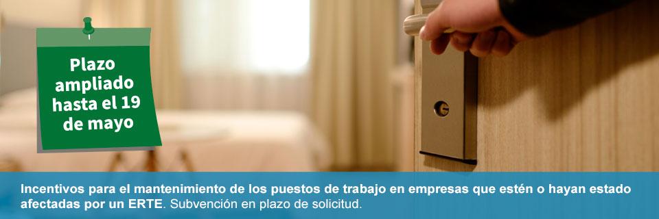 Abierto el plazo de solicitud de ayudas al mantenimiento de empleo en empresas afectadas por ERTE en Andalucía. Ampliado hasta el 19 de mayo