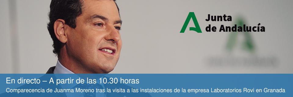 En directo – A partir de las 10.30 horas - Comparecencia de Juanma Moreno tras la visita a las instalaciones de la empresa Laboratorios Rovi en Granada
