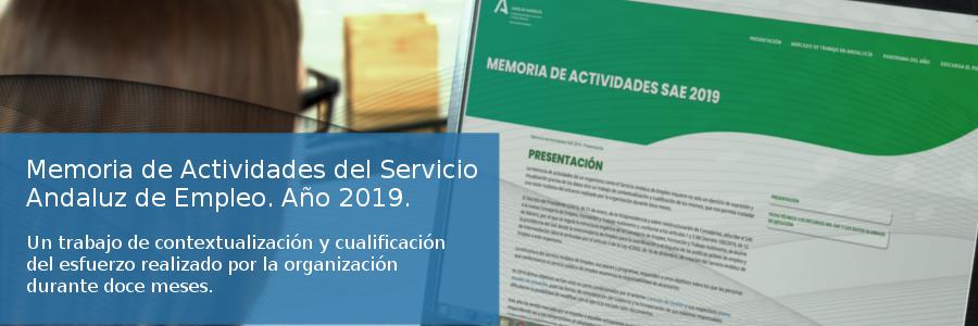 Memoria de actividades del Servicio Andaluz de Empleo. Año 2019