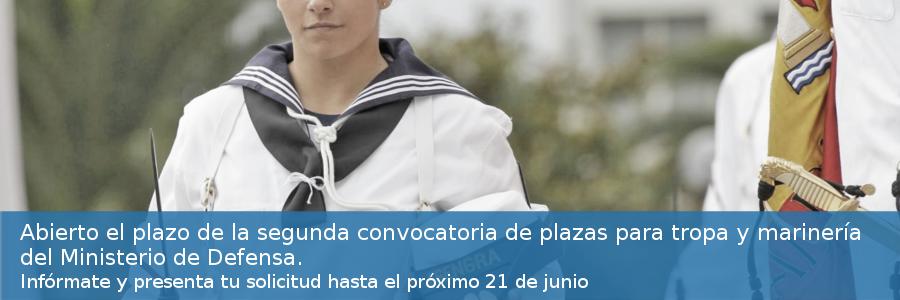 Abierto el plazo de la segunda convocatoria de plazas para tropa y marinería del Ministerio de Defensa 2021