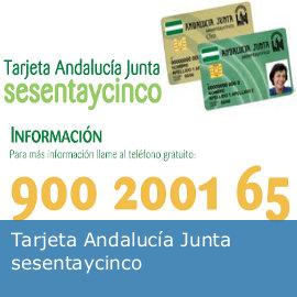 Tarjeta Andalucía Junta 65