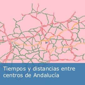 Tiempos y distancias entre centros de Andalucía