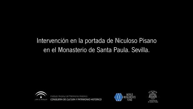 Restauración de la Portada de Santa Paula (Sevilla)