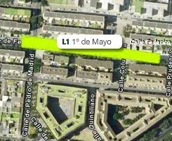 Plano de la estación de 1º de Mayo