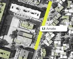 Plano de la estación de Amate