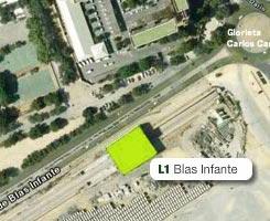 Plano de la estación de Blas Infante