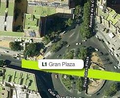 Plano de la estación de Gran Plaza