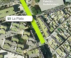 Plano de la estación de La Plata