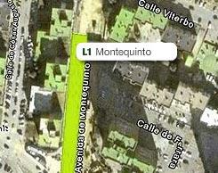 Plano de la estación de Montequinto
