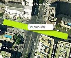 Plano de la estación de Nervión