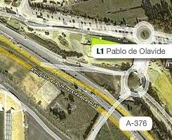 Plano de la estación de Pablo de Olavide