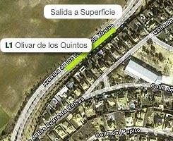 Plano de la estación de Olivar de los Quintos