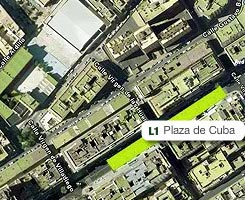 Plano de la estación de Plaza de Cuba