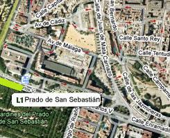 Plano de la estación de Prado de San Sebastián