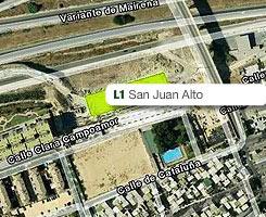 Plano de la estación de San Juan Alto