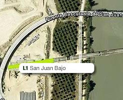 Plano de la estación de San Juan Bajo