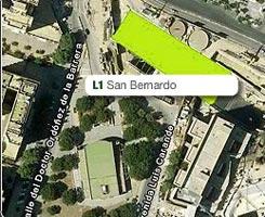 Plano de la estación de de San Bernardo
