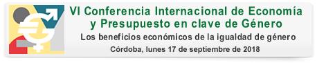 VI Conferencia Internacional de Economía y Presupuesto en Clave de Género