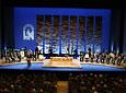 Plano general del escenario del Teatro de la Maestranza de Sevilla durante el acto de entrega de las Medallas de Andalucía.