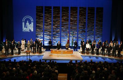 El himno de Andalucía puso el broche final al acto de entrega de las Medallas en el Teatro de la Maestranza.