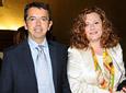 El director general de la RTVA, Pablo Carrasco, y la directora de          Servicios Informativos, Pilar Vergara, tras el acto institucional del Día de          Andalucía en el Teatro de la Maestranza.