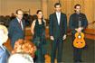 48:El Pr�ncipe con Manuel Chaves, la cantaora Marina Heredia y el guitarrista que la acompa��, tras el concierto en el Centro Cultural Manuel de Falla de Granada..