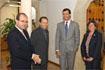 37:El Heredero de la Corona, junto al presidente del Gobierno andaluz y autoridades municipales de Alhama de Granada.