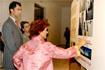 54:La consejera de Cultura de la Junta de Andaluc�a, Carmen Calvo, explica a S.A.R. los detalles del proyecto del futuro Museo Picasso, en la ciudad natal del autor.