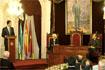 69:Palabras de S.A.R. en el Ayuntamiento de C�diz junto a autoridades regionales y municipales.