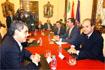 107:El Pr�ncipe de Asturias se reuni� con los portavoces de los grupos politicos municipales en el Ayuntamiento de Ja�n, acompa�ado por Manuel Chaves.