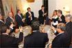 109:Brindis durante la cena con los empresarios agroalimentarios en Ja�n.