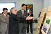 109:S.A.R. en la Asociaci�n de Empresarios del M�rmol, en Macael (Almer�a), junto al consejero de Empleo y Desarrollo Tecnol�gico, Jos� Antonio Viera, y el presidente de la Asociaci�n, Seraf�n Sabiote.