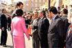 125:El Pr�ncipe de Asturias saluda a la Corporaci�n municipal de C�rdoba acompa�ado por la alcaldesa de la ciudad.