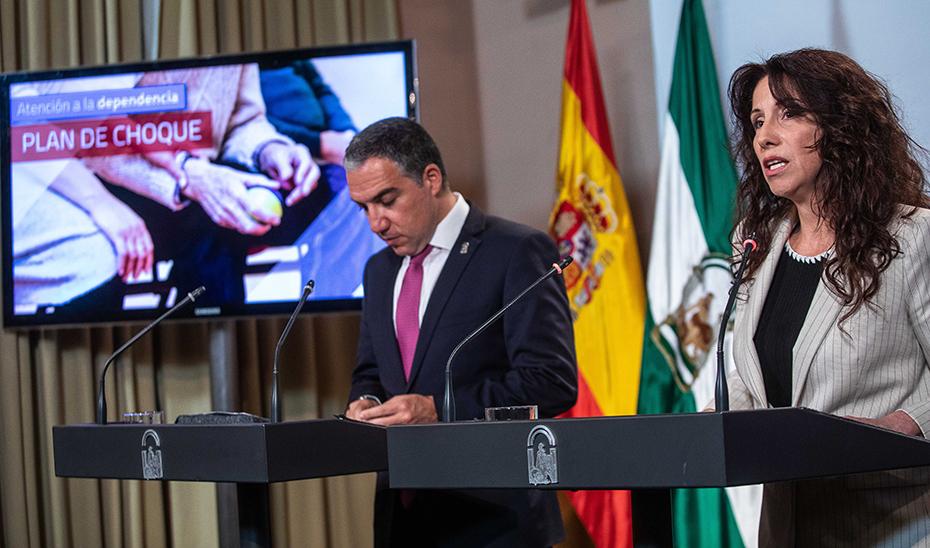 Rocío Ruiz, consejera de Igualdad, en la comparecencia informativa posterior al Consejo de Gobierno.