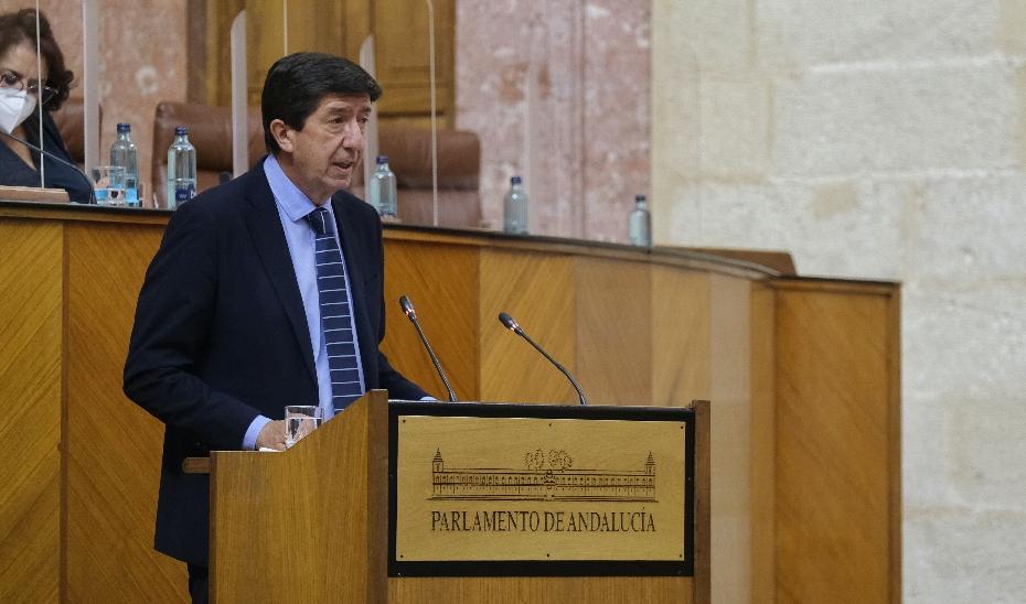 El vicepresidente Juan Marín en el Parlamento de Andalucía.