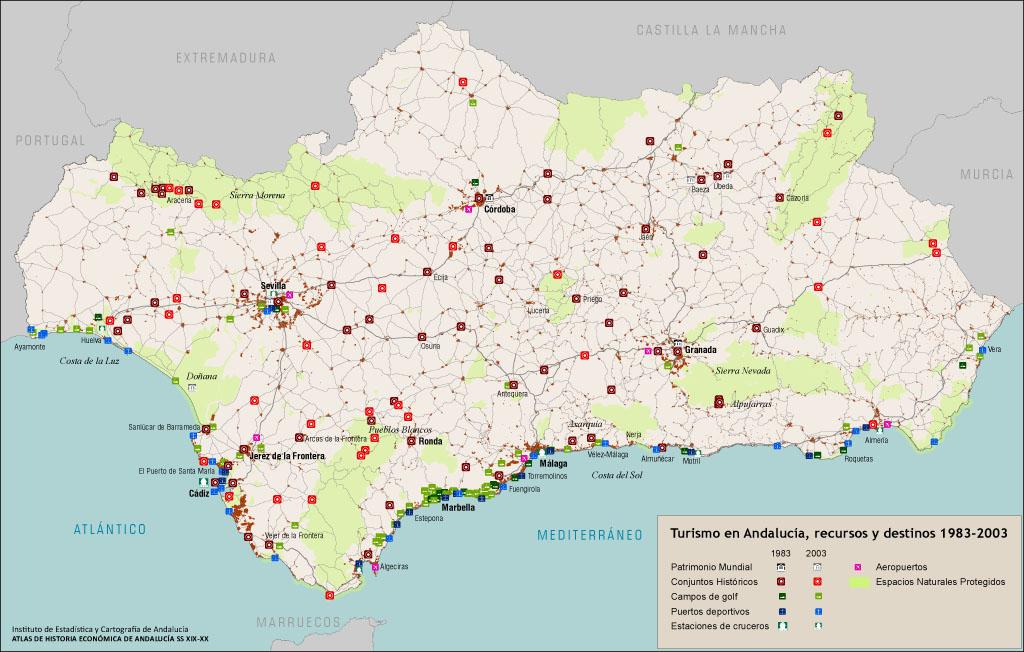 Mapa De Andalucia Costa Del Sol.Atlas De Historia Economica De Andalucia Ss Xix Xx