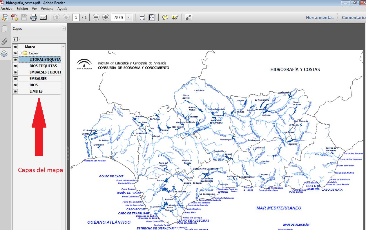 Mapa Rios De Andalucia.Ieca Junta De Andalucia Mapas Mudos De Andalucia Y Mucho Mas