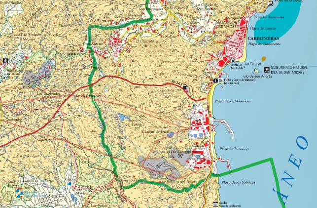 Mapa del Parque Natural del Cabo de Gata 1:45.000 (2ª edición. 2005)