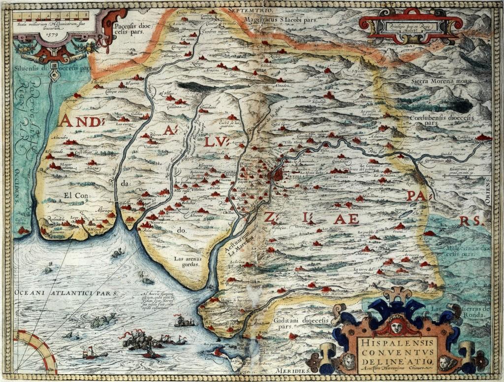mapa del sevillano Jerónimo de Chaves publicado en 1579 en Amberes
