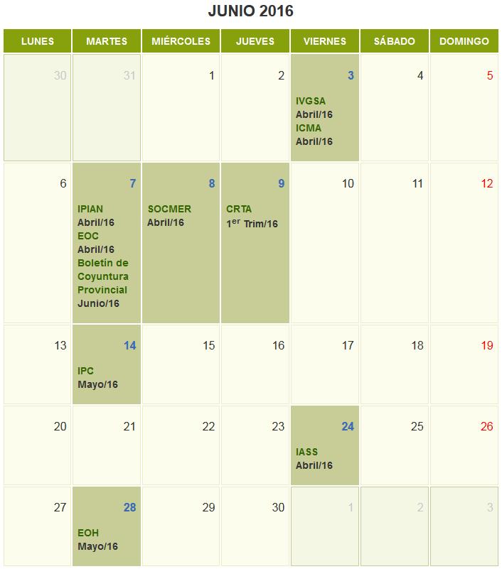 La agenda de junio