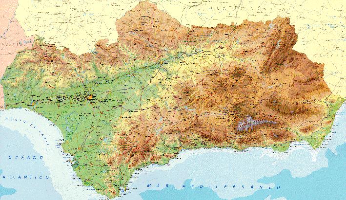 Sierra Morena Mapa Fisico.Ieca Junta De Andalucia Nueva Edicion Del Mapa