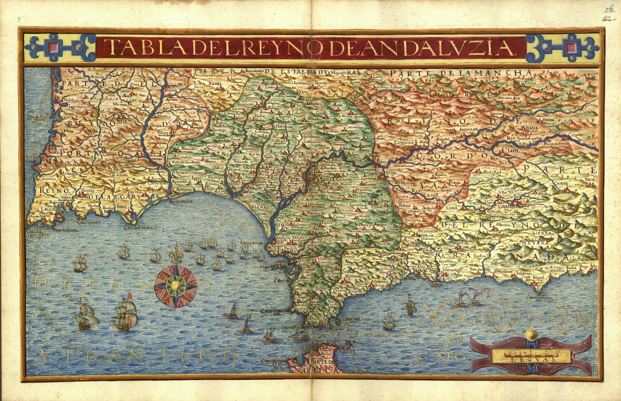 Mapa de Andalucía. Texeira