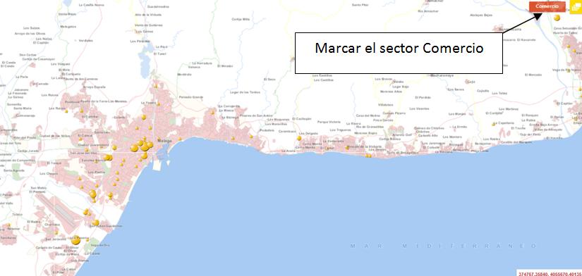 Establecimientos del sector Comercio ubicados en Málaga