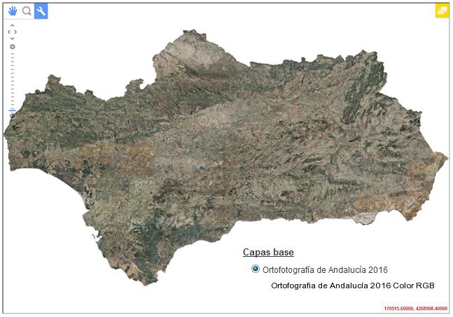 Ortofotografía a color del año 2016 para la totalidad de Andalucía