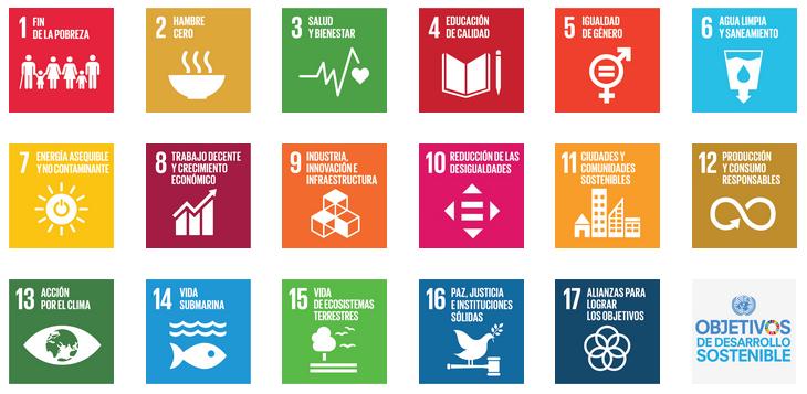 17 Objetivos de Desarrollo Sostenible (ODS) de la Agenda 2030