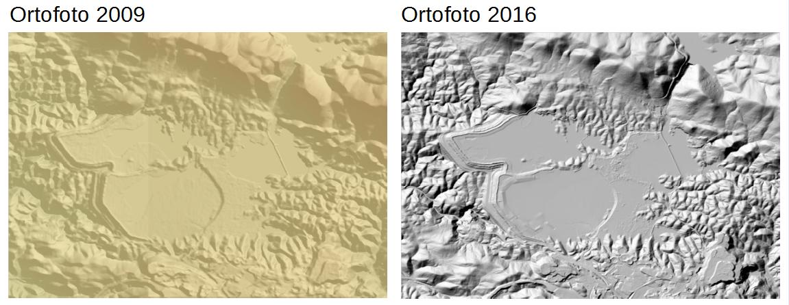 Diferencia de resolución entre Modelos Digitales del Terreno
